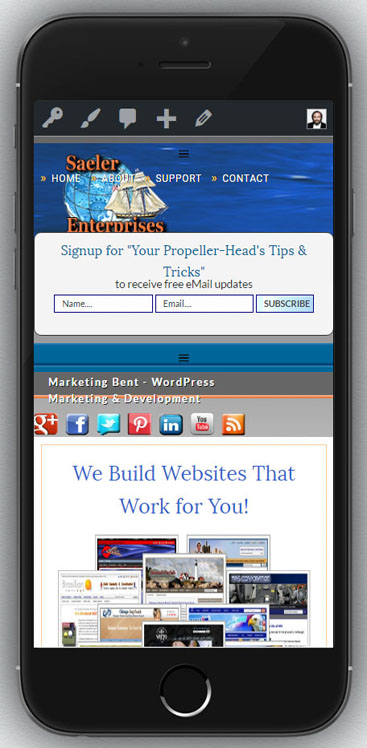 Marketing Bent Mobile Responsive