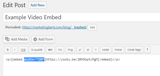 WordPress Video Embed