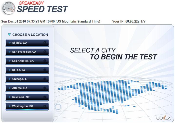 Speakeasy Speed Test