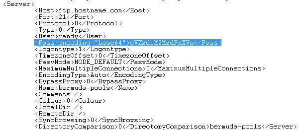 FileZilla XML File