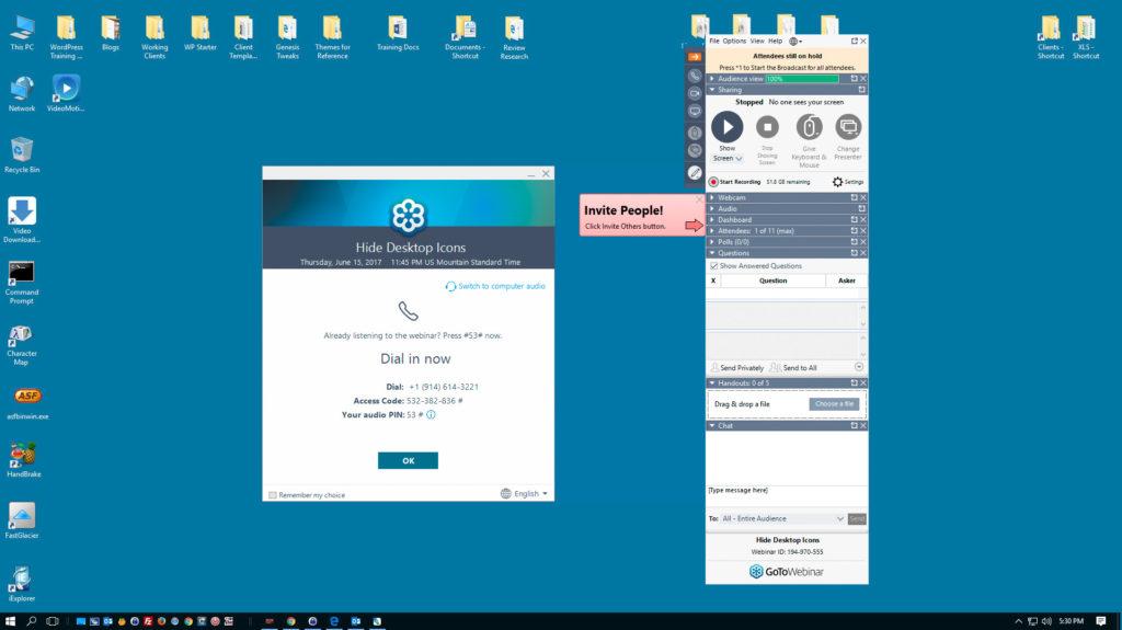 Desktop Icons Visible